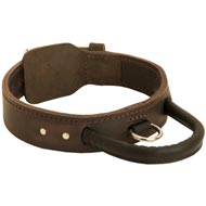 Extra Durable Leather Newfoundland Collar with Handle for Attack Training