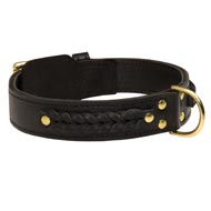 Incredible Design Newfoundland Braided Leather Collar