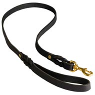 Walking Training Leather Newfoundland Leash Braided