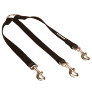 Triple Nylon Newfoundland Leash Coupler for Walking 3 Dogs at a Time