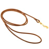 Round Leather Newfoundland Leash for Dog Shows