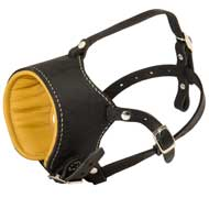 Snout Short Leather Newfoundland Muzzle Padded with Nappa Leather