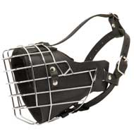 Leather Padded Wire Cage Newfoundland Muzzle for Agitation Training