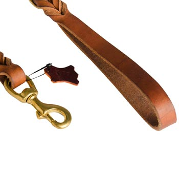 Newfoundland Leather Leash for Canine Service