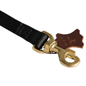 Corrosion Resistant Snap Hook of Nylon Dog Leash