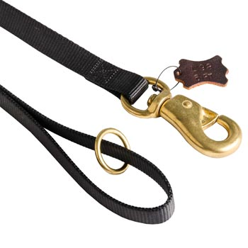 Newfoundland Nylon Leash with Brass O-ring and Snap Hook