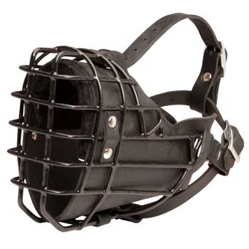Winter Fully Wire Newfoundland Padded Muzzle Cage